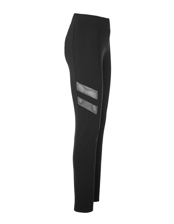 Black Mesh Insert Legging, Black, hi-res