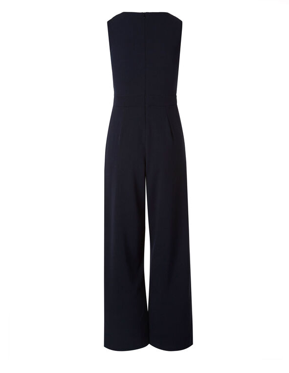 Navy Crepe Jumpsuit, Navy, hi-res