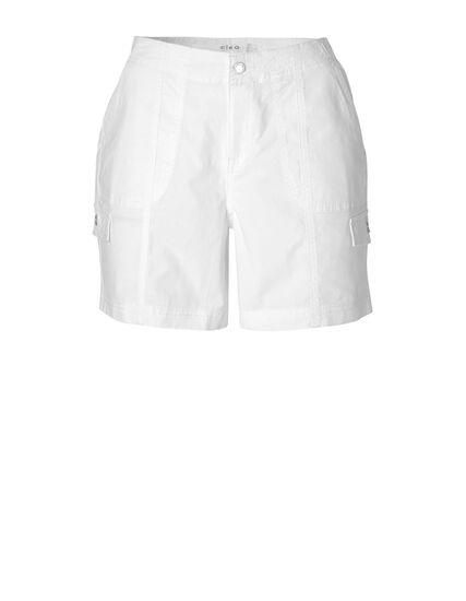 White Cotton Short, White, hi-res