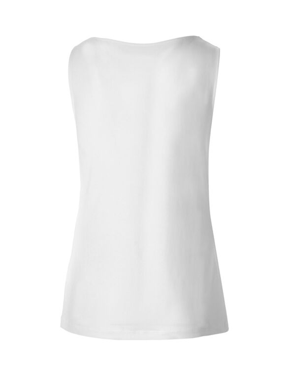 White Essential Layering Top, White, hi-res