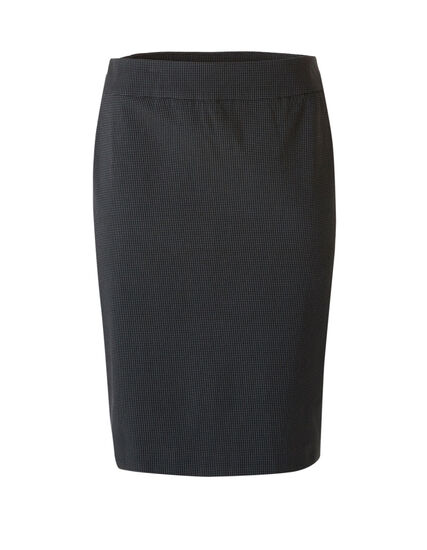 Grey Houndstooth Pull On Pencil Skirt, Grey, hi-res