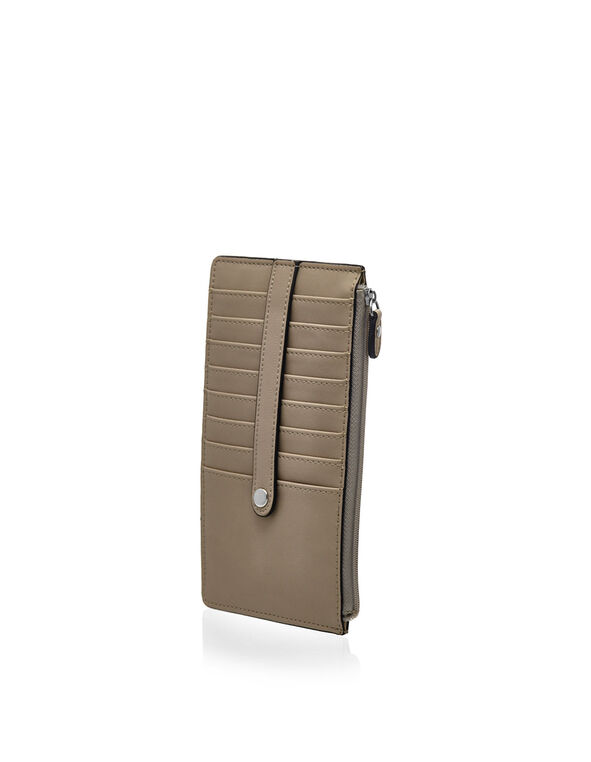 Neutral Exterior Card Holder Wallet, Neutral, hi-res