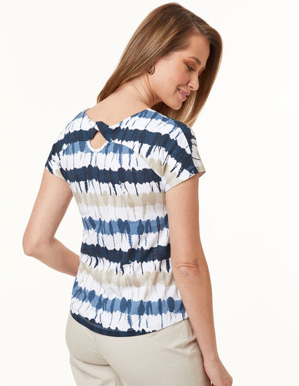 Knot Back Tee, Neutral, hi-res