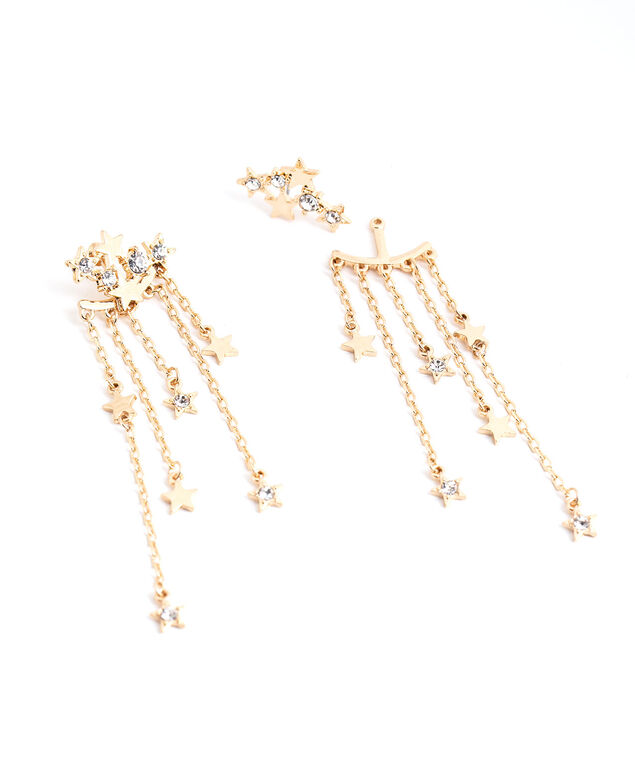 Star Cluster Drop Earring, Gold