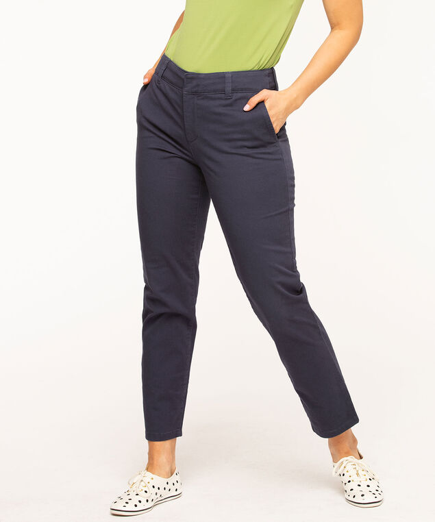 Slim Chino Ankle Pant, Navy