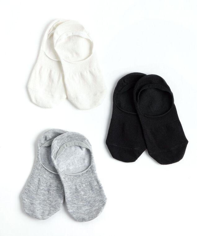 Basics No-Show Liner Sock 3-Pack, Black/Grey/White