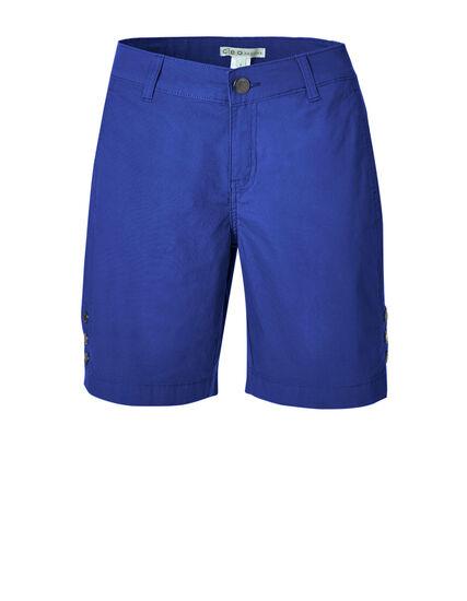 Electric Blue Poplin Bermuda Short, Electric Blue, hi-res