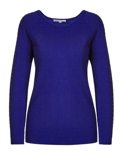 Cobalt Raglan Pullover Sweater, Cobalt, hi-res