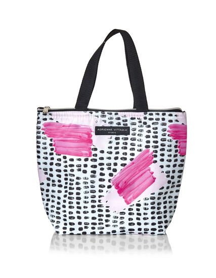 Pink Painterly Lunch Tote, Pink, hi-res
