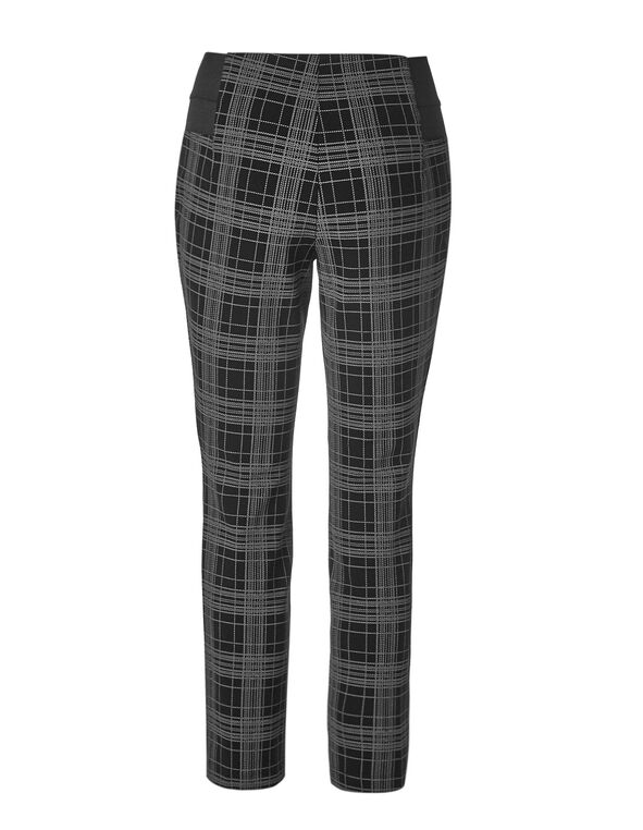 Black Plaid High Waisted Legging, Black/Grey, hi-res