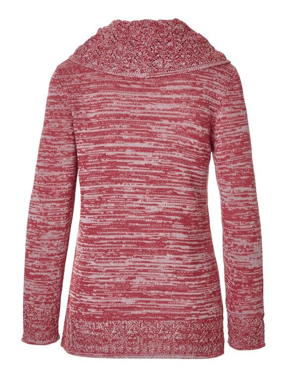 Fresh Pink Crochet Hem Sweater, Fresh Pink, hi-res