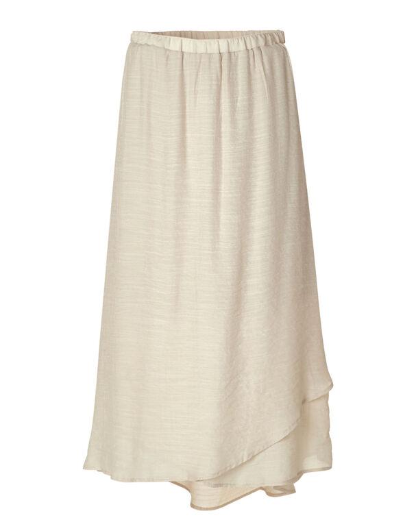 Beige Gauze Skirt, Beige, hi-res