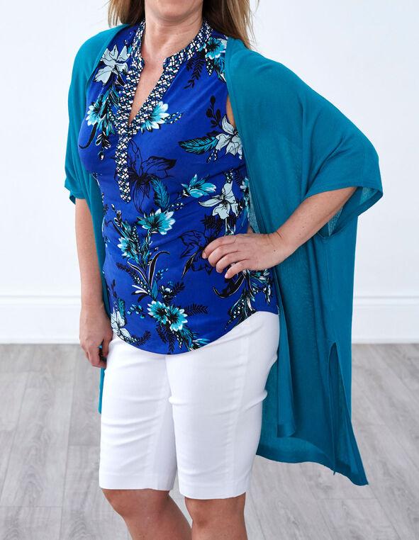 Turquoise Kimono Sweater, Summer Turquoise, hi-res