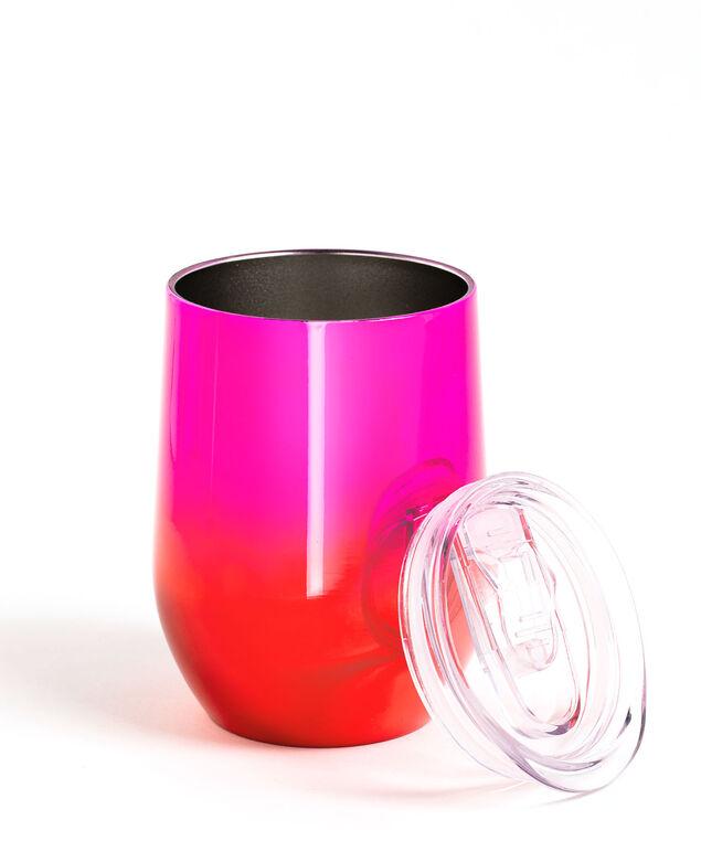 Insulated Wine Tumbler, Red/Pink Metallic