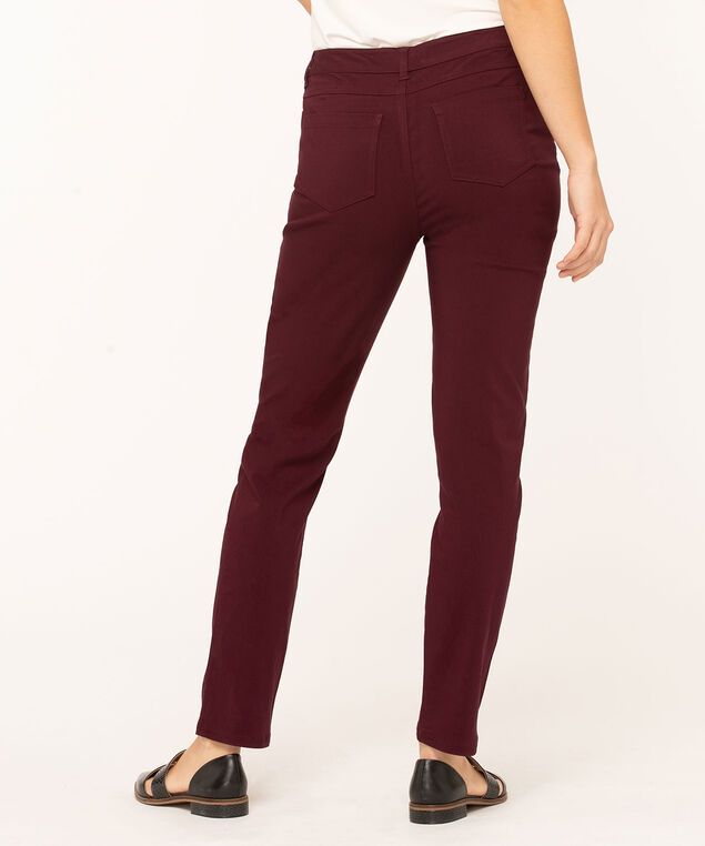 Mulberry Curvy 5-Pocket Slim Pant, Mulberry, hi-res