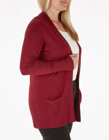 Red Essential Cardigan, Red, hi-res