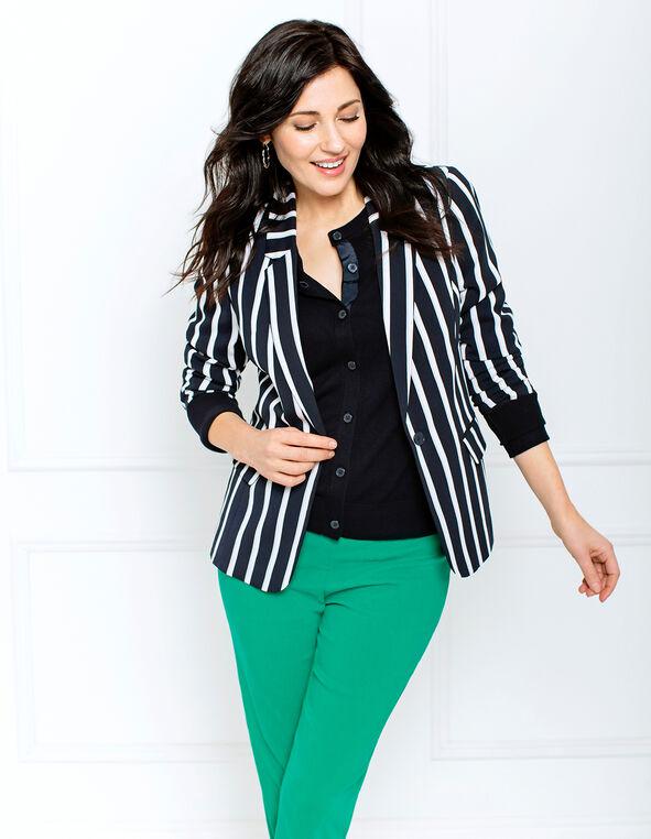 Stripe Blazer Look, , hi-res