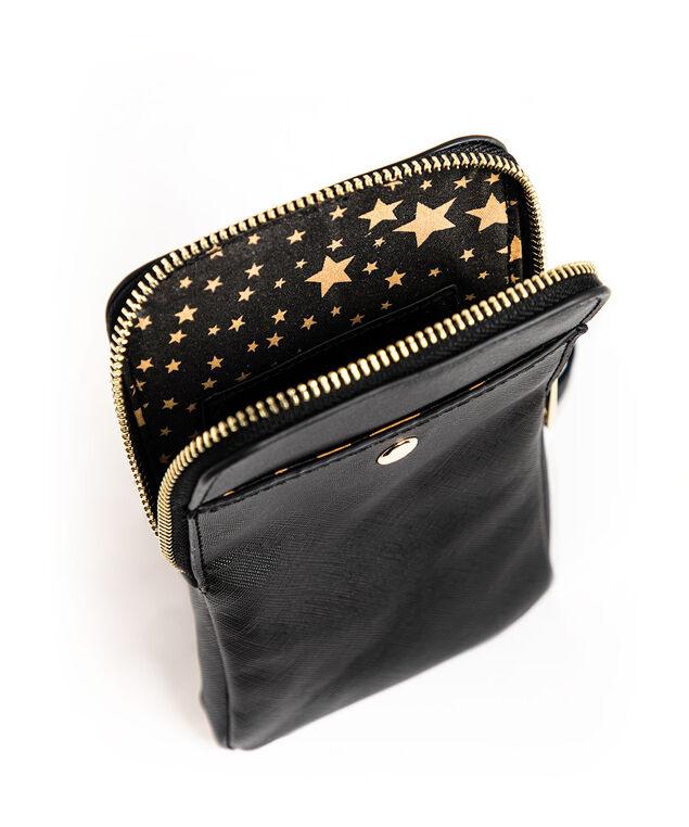 Black Phone Crossbody Bag, Black