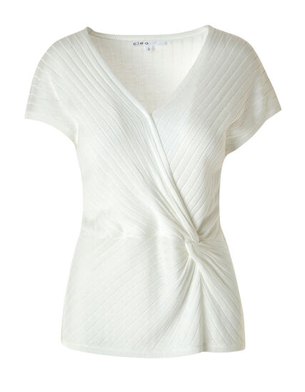 Ivory Knotted Pullover, Ivory, hi-res