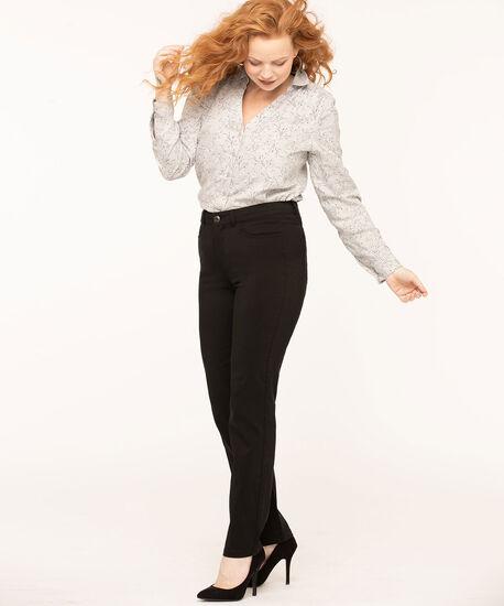 Black Solid 5 Pocket Slim Pant, Black, hi-res