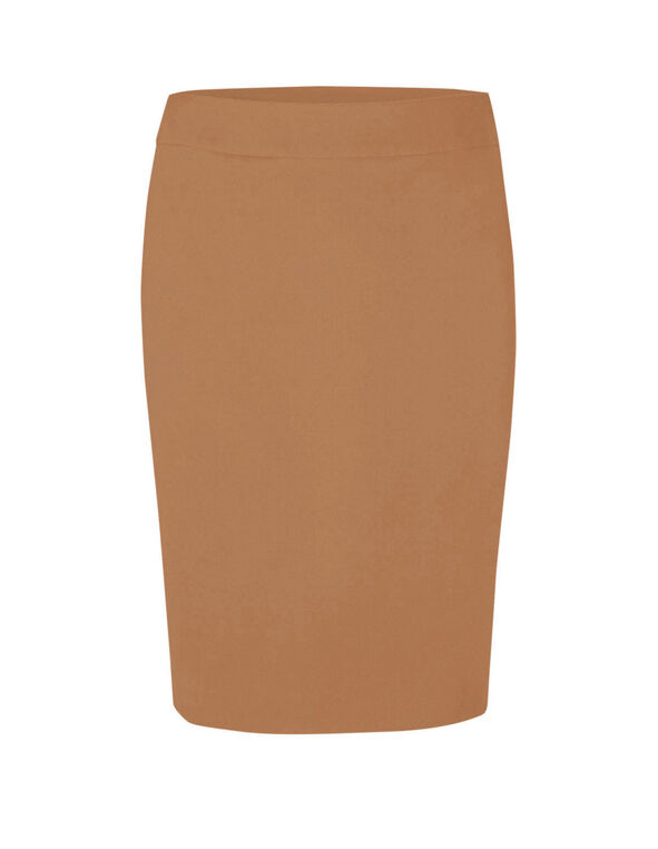 Camel Brown Pencil Skirt, Camel, hi-res
