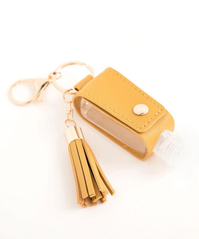 Hand Sanitizer Tassel Keychain, Gold