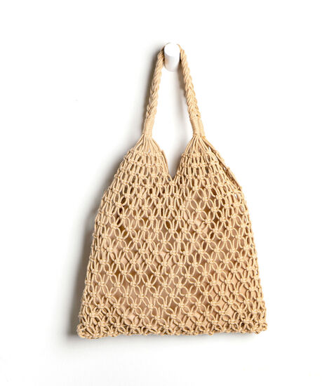 Woven Tote Bag, Natural, hi-res