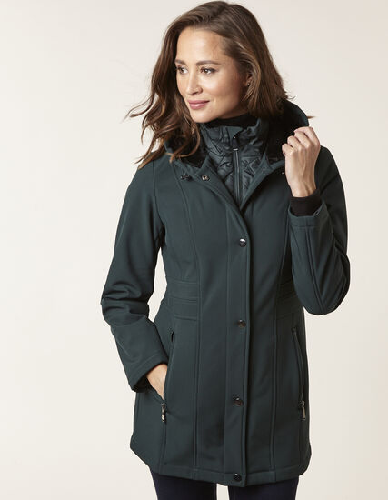 Spruce Softshell Coat with Fooler, Spruce, hi-res