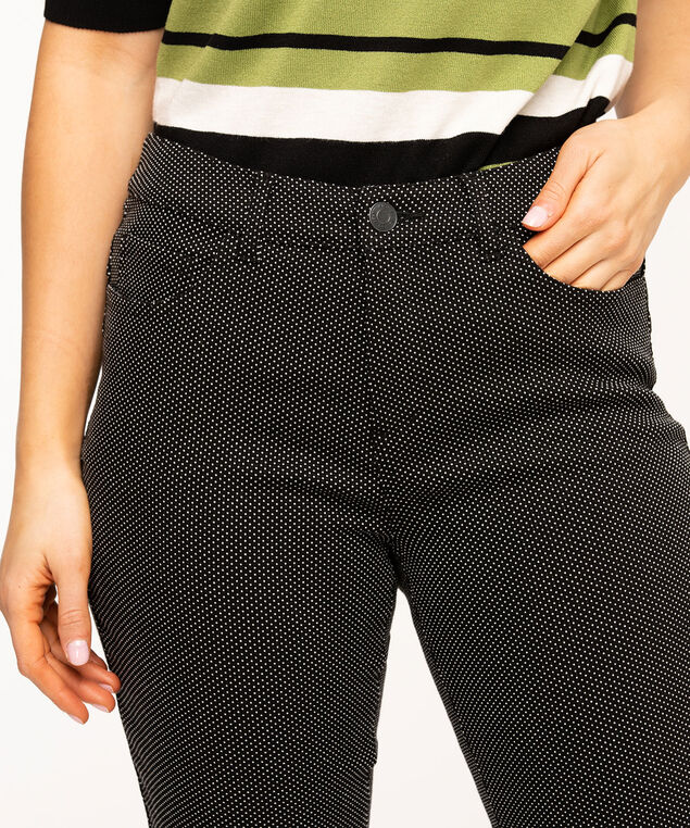 Curvy Butt Lift Ankle Pant, Black Dot