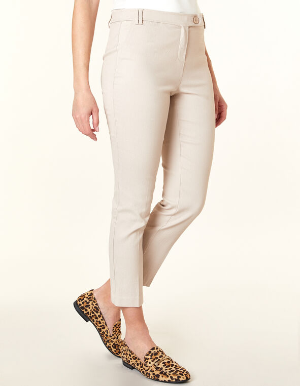 Stone Pull On Ankle Pant, Stone, hi-res