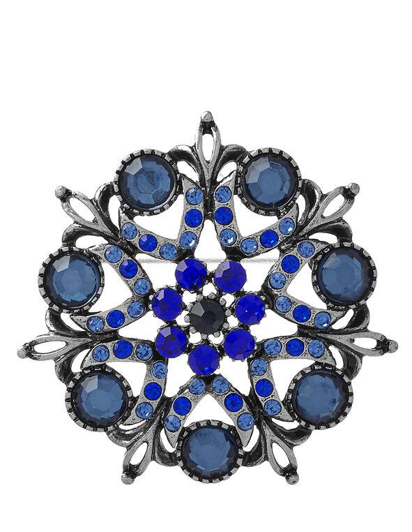 Sapphire Crystal Pin, Blue, hi-res