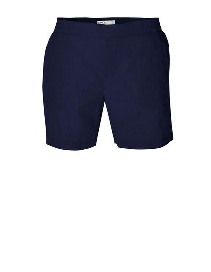 Navy Linen Cotton Blend Short, Navy, hi-res