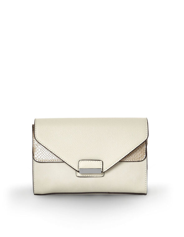 Neutral Blocked Belted Bag, Neutral, hi-res