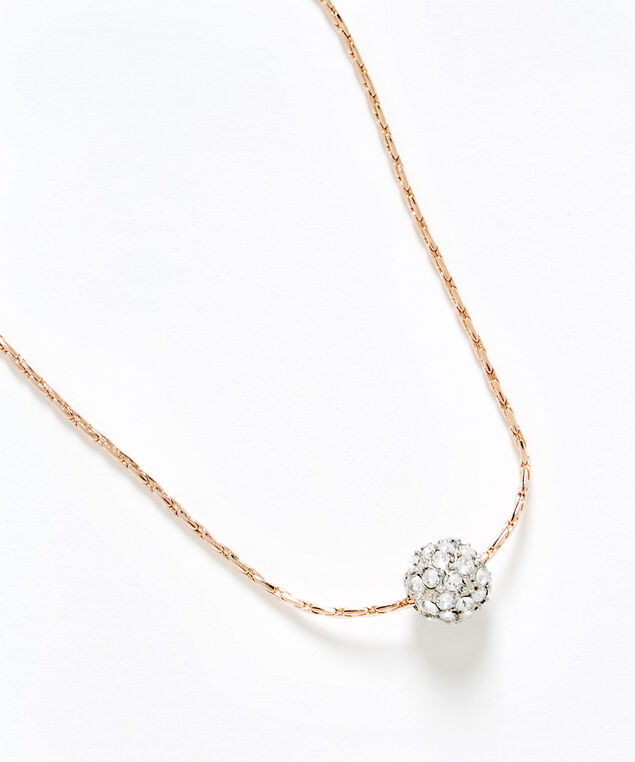 Genuine Crystal Fireball Necklace, Gold, hi-res