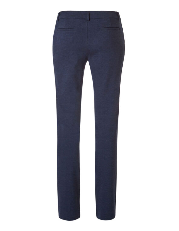 Navy Long Comfort Stretch Pant, Navy, hi-res