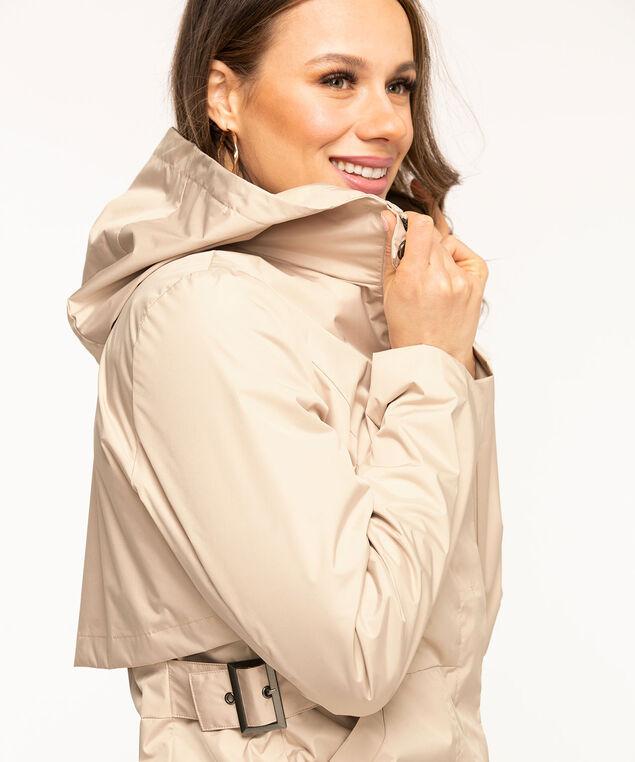 Hooded Windshell Coat, Tan