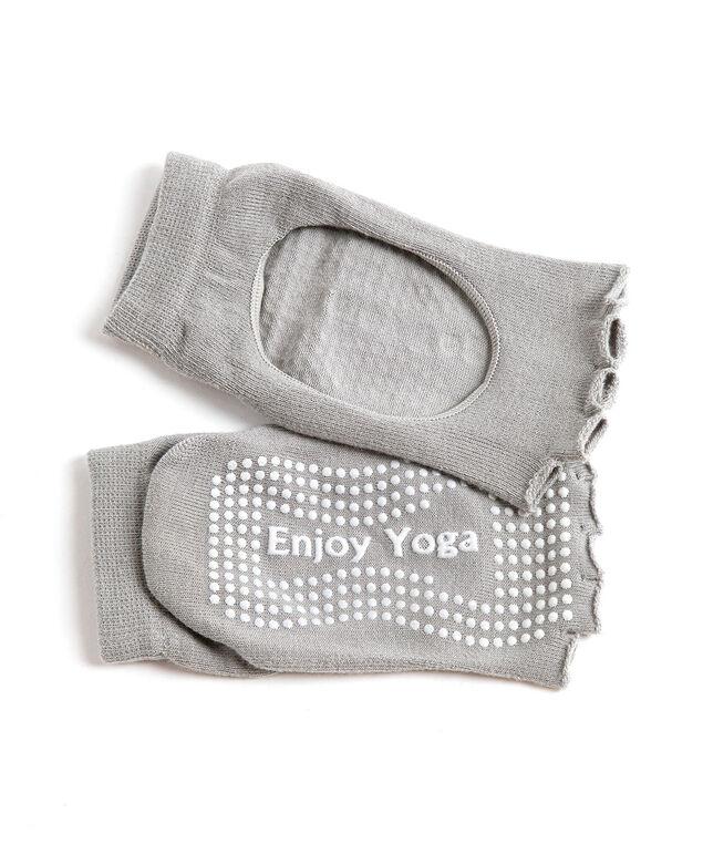 Toeless Anti-Slip Yoga Sock, Light Grey