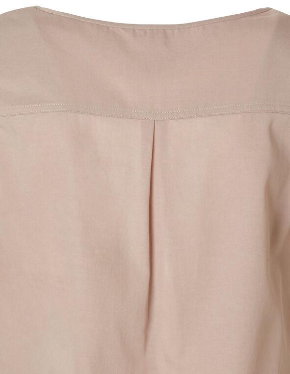 Pink Ruched Detail Blouse, Pink, hi-res