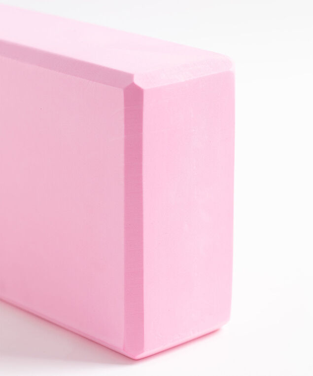 Coloured Yoga Block, Pink