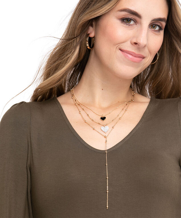 Convertible Heart Necklace, Gold