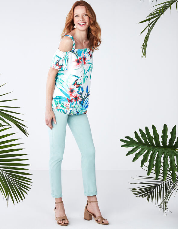 Every Body Mint Ankle Jean, Mint, hi-res