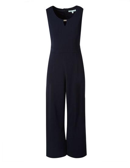 Navy Crepe Jumpsuit, Navy, hi-res