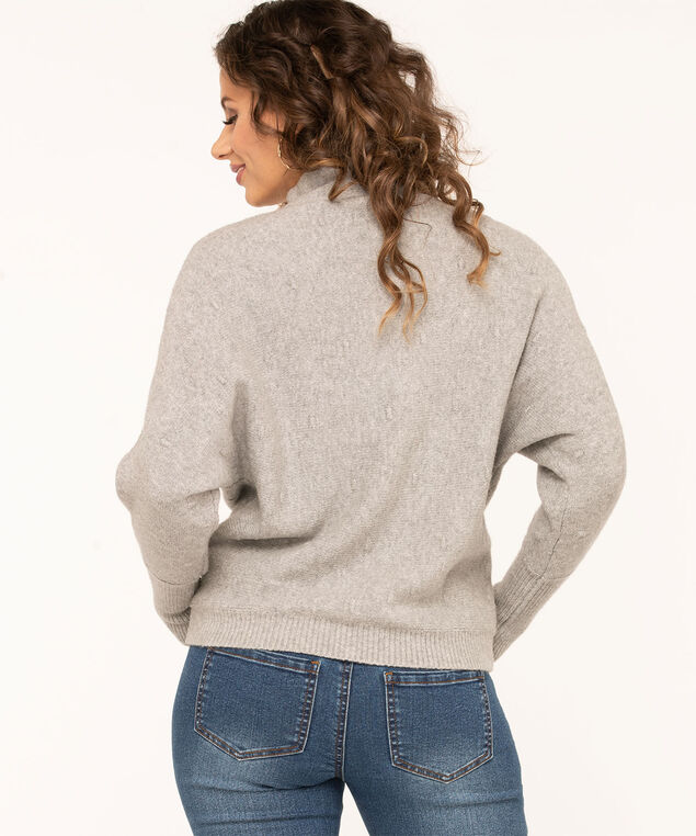 Grey Bobble Stitch Sweater, Grey, hi-res