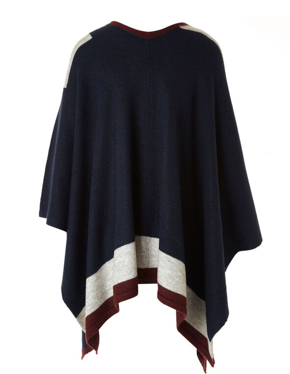 Navy Colour Block Cardigan, Navy, hi-res