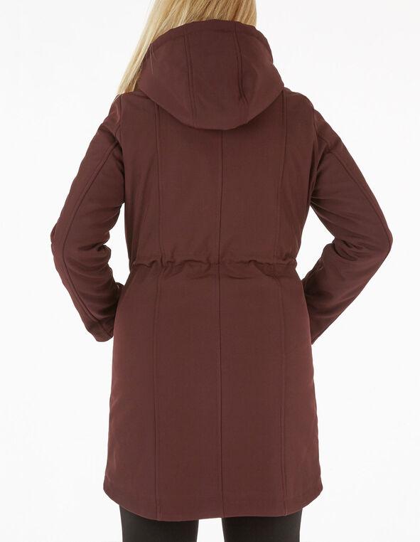 Merlot Softshell Anorak Coat, Merlot, hi-res