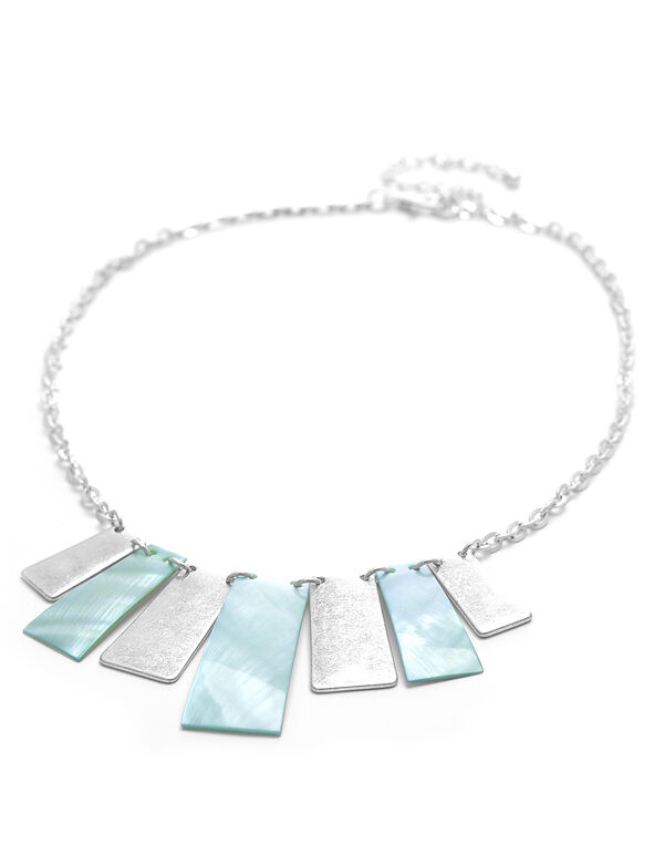 Turquoise Rectangular Statement Necklace, Turquoise, hi-res