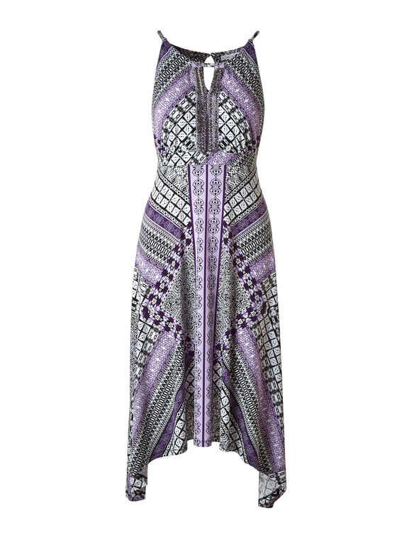 Purple Beaded Halter Maxi Dress, Purple, hi-res
