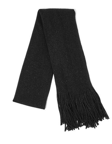 Black Shimmer Scarf, Black, hi-res