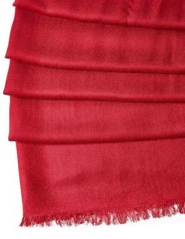 Red Pashmina Scarf, Red, hi-res