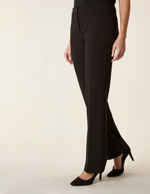 Black Short Curvy Trouser Pant, Black, hi-res